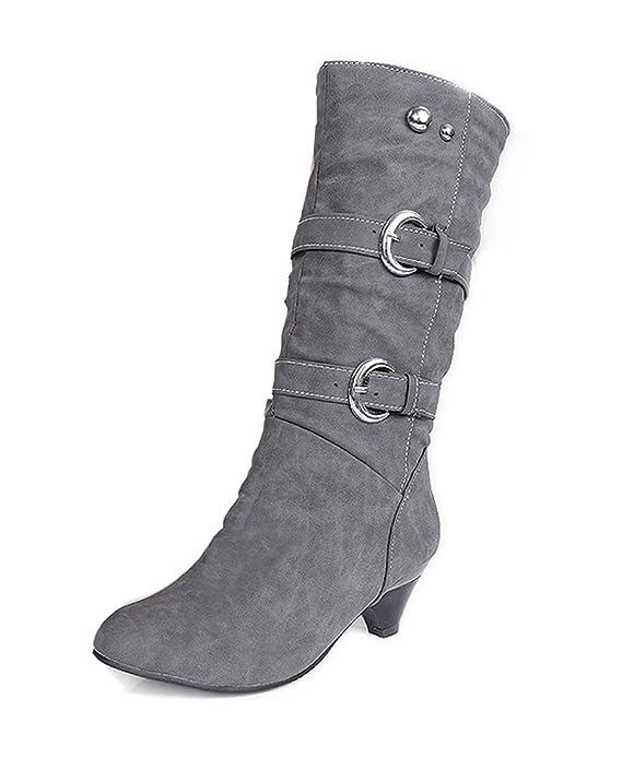 ShallGood Femme Hiver Sexy Chaudes Bottes Bottines Talon haut Chaussures  Footwear Chaussures Longue Boots  Amazon.fr  Vêtements et accessoires efdd5bd8391a