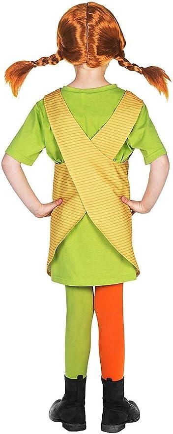 Maskworld Pippi Longstocking Fancy Dress Childrens Costume (3-4 ...
