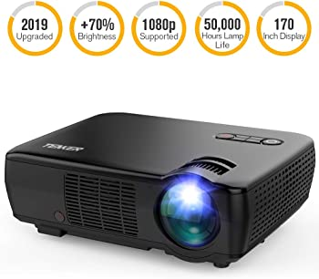 Tenker 3200-Lumens LCD Home Theater Portable Projector