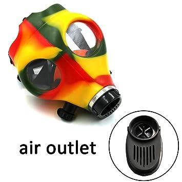 zjan de goma máscara de gas (Multicolor), para fumar