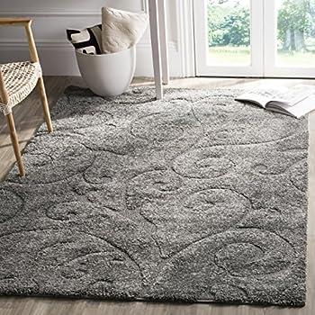 Amazon Com Safavieh Milan Shag Collection Sg180 8080 Grey