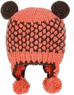 Hiver Accessoire Chapeau Mignon bébé Chaud Beanie Cap du Nourrisson Orange Blancho Bedding