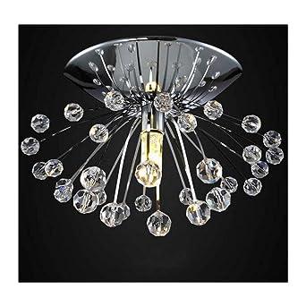 Lámpara de Techo de Cristal,Lámpara de Techo Semi-incrustada ...