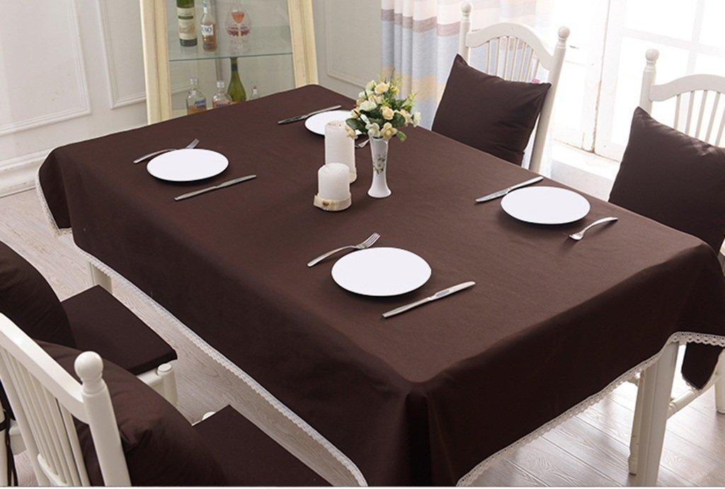 Tischdecke, Baumwoll Leinen Home Hotel Europäischer Stil Einfarbig Rechteck ( Farbe   Braun , größe   140x180cm ) B078T5Z1WF Tischdecken Räumungsverkauf    Günstigstes