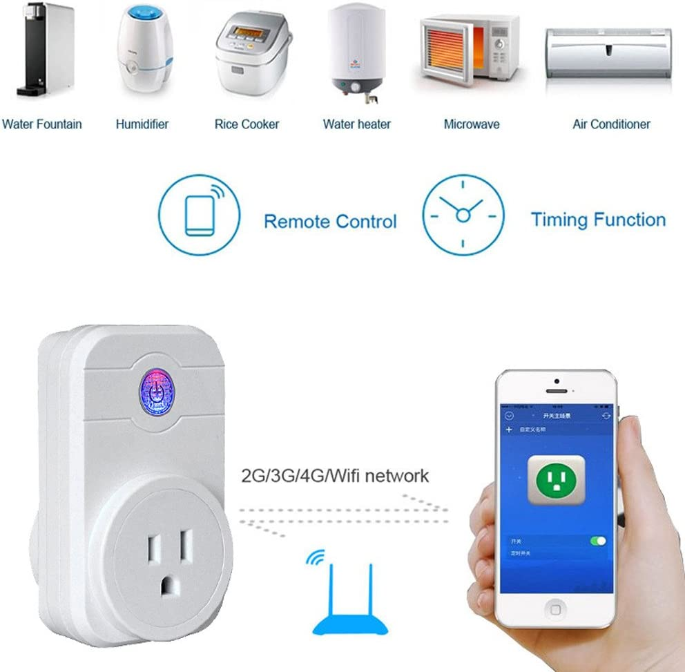 WiFi Smart APP Remote Control Timer Socket US Plug Home Automation Celiy Smart Socket Home Kitchen Bathroom Decor