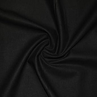 Tela lisa de algodón para manualidades negras: Amazon.es ...