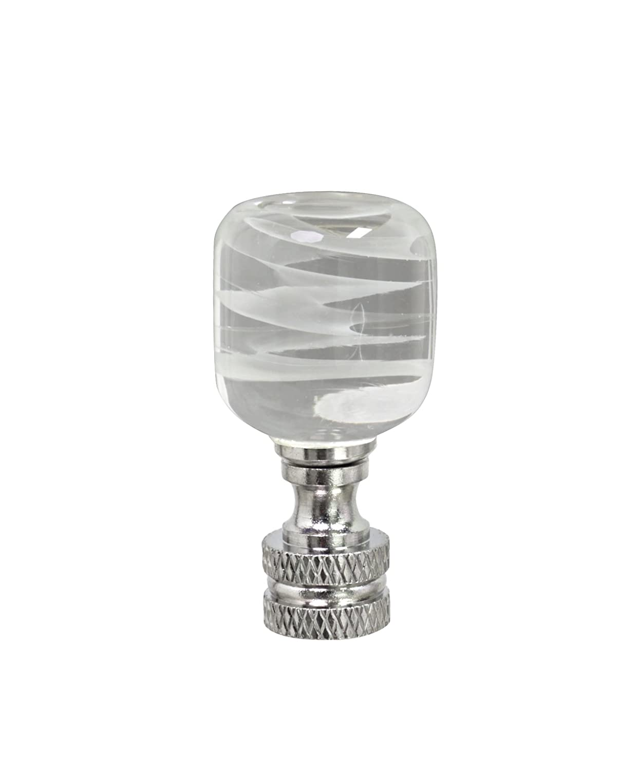 2 Tall Clear /& Yellow 1 Pack Aspen Creative 24012 Clear with Yellow Line Glass Lamp Finial in Nickel Finish 1 Pack Clear /& Yellow 2 Tall