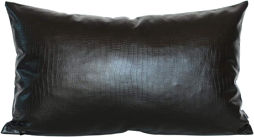 Black Velvet Colorblock pillow cover 20x20 Modern fall home decor Two tone Designer pillow,Velvet and silver faux leather pillow cover