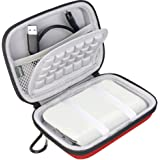Bovke Hard EVA Shockproof Carrying Case Travel Bag for Polaroid ZIP Mobile Printer w/ZINK Zero Ink Printing Technology Technology fits POLZ2X350 2x3-Inch Premium Zink Photo Paper, Red