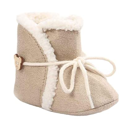 Amiley Baby boots shoes , Baby Soft Sole Snow Boots Crib Toddler Boot