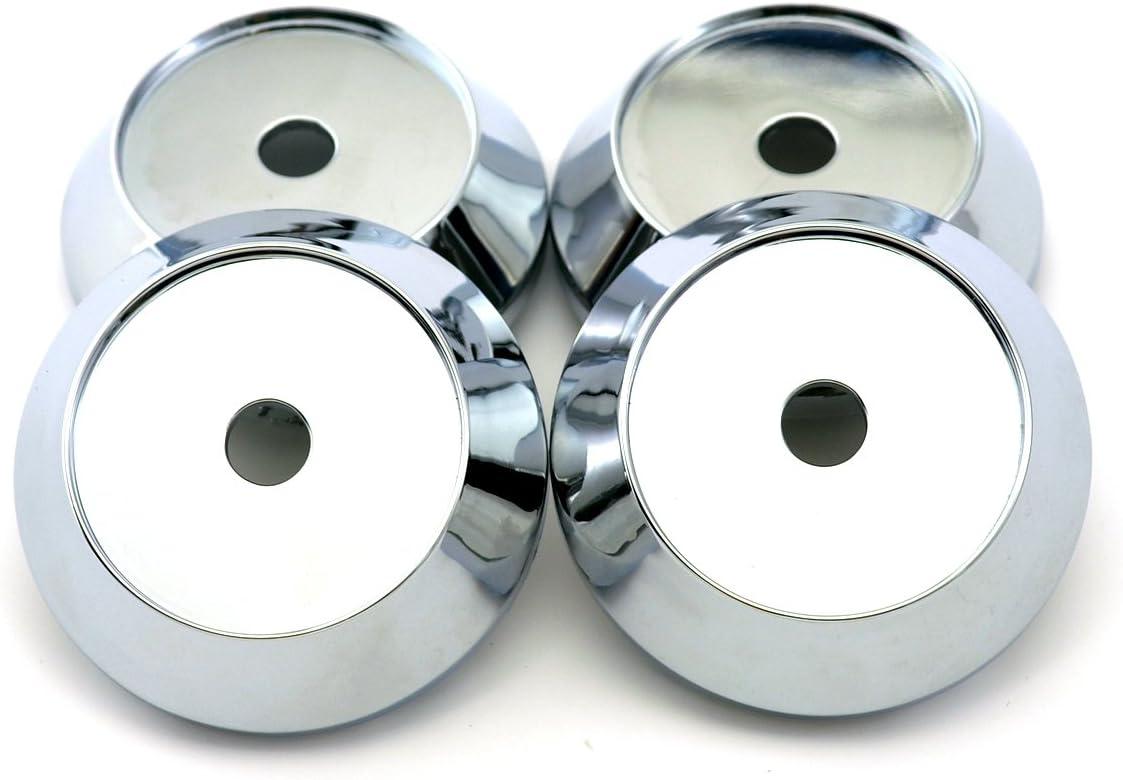 Biomar Labs/® 4 x 60mm 3D Universal Wheel Hub Centre Caps Silver Skull Center Rims CS 8