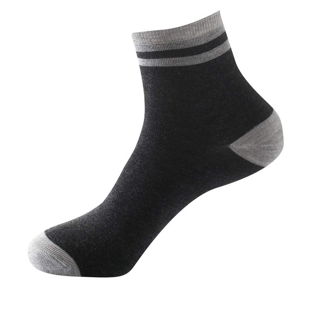 1Pair Mens Non Elastic 100% Pure Cotton Socks Comfort Soft Grip Diabetic (Gray)