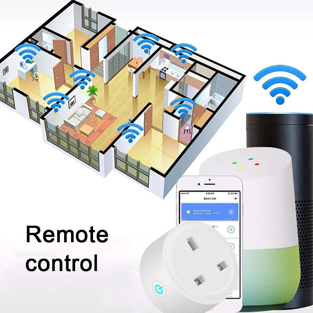 Google Home /& IFTTT Wireless Smart Plug 2 Packs WiFi Mini Smart Socket Timer Outlet Work No Hub Required Remote Control Devices from Anywhere for Alexa