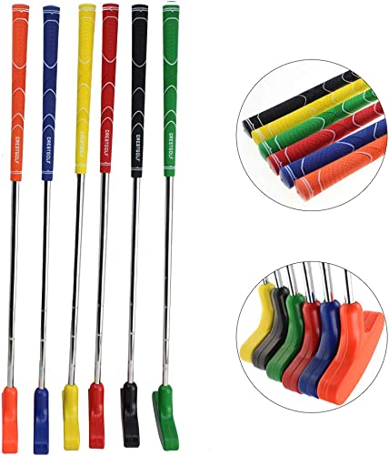 Crestgolf 6pcs Two Way Junior Golf Putter Kids Putter Both Left and Right Handed Easily Use 5 Size
