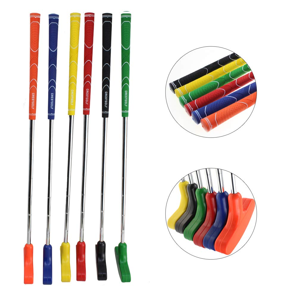 Crestgolf 6pcs Two Way Junior Golf Putter Kids Putter Both Left and Right Handed Easily Use 5 Sizes for Ages 3-5 6-8 9-12 13-15 Adult (29 inch) by Crestgolf