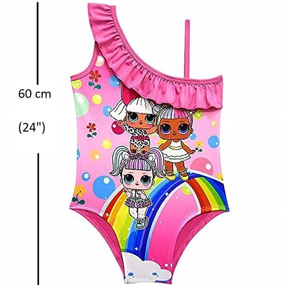 814f3091d26fa LOL Dolls Swimsuit Baby Girls Swim Bathing Suit One Piece Cartoon Swimwear   Amazon.ca  Clothing   Accessories