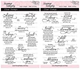 #8: Stamp Simply Clear Stamps 2-Pack Christian Religious Fear Not and Words of Encouragement 17 Pieces