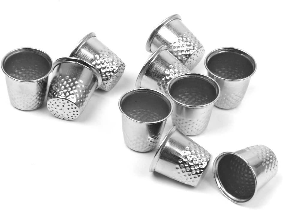 Small Metal Finger Protector for Quilting Safety Hand Thimbles for Sewing Vintage Stainless Steel Thimble for Knitting