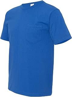 product image for Bayside Mens USA-Made Short Sleeve T-Shirt 5070 - Large - Royal