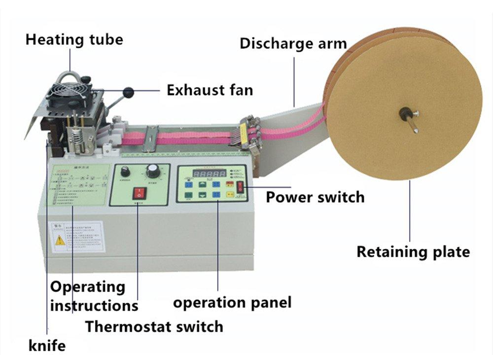 Hot and Cold Cut Microcomputer Nylon Belt Cutting Machine Automatic Fabric Tape Backpack Belt Braided Belt Cutting Machine Width: 3-95mm Thickness: 0.2-3mm
