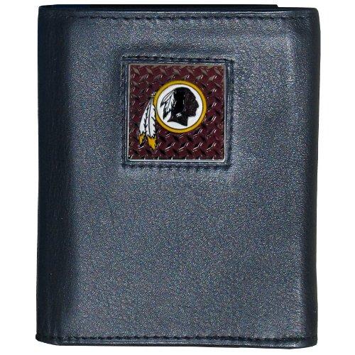 NFL Washington Redskins Leather Gridiron Tri-Fold Wallet