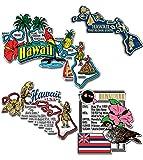 Hawaii Four-Piece State Magnet Set