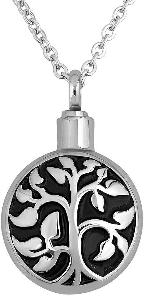 Joyas de cremación Uniqueen, collar con colgante de árbol de la vida y diseño de urna para cenizas