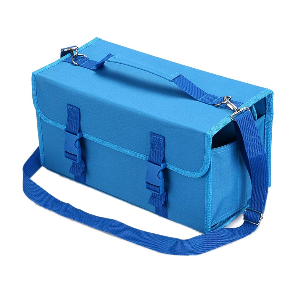TOOGOO Marker 120 Holders Organizer Case Storage So On Fits from 15Mm to 22Mm Diameter Blue