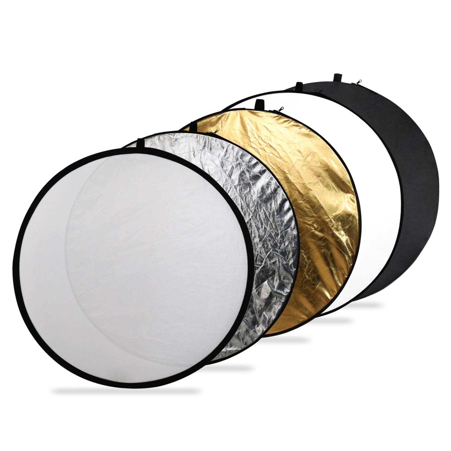 Issuntex 43 Inch(110cm) Photography Reflector Photo Video Studio Multi Collapsible Disc 5-in-1 Lighting Reflector by ISSUNTEX