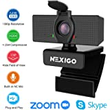 2020 1080P Webcam with Microphone & Privacy Cover - NexiGo 110-degree Wide Angle Widescreen USB HD Camera, Plug and Play, Laptop Computer Web Cam for Zoom YouTube Skype FaceTime Hangout OBS