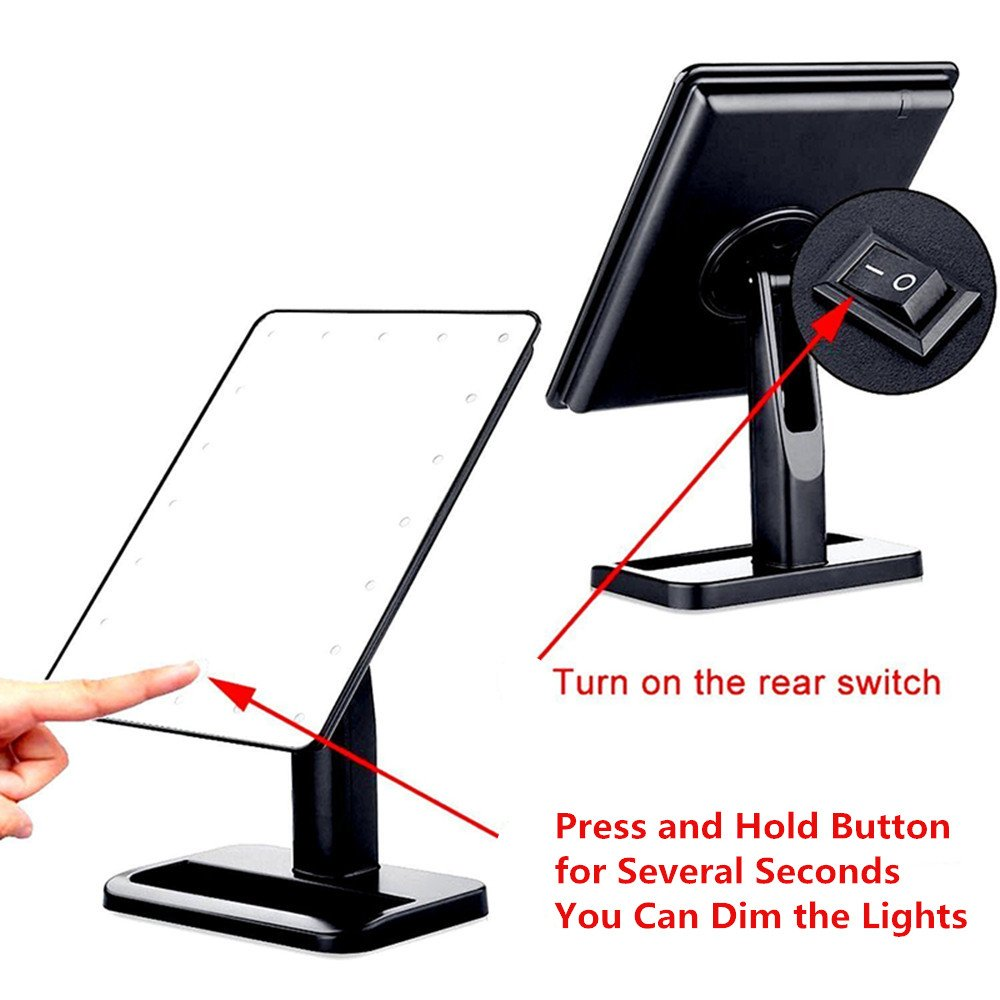Makeup Mirror, FLYME Touch Screen 20 LED Lighted Vanity