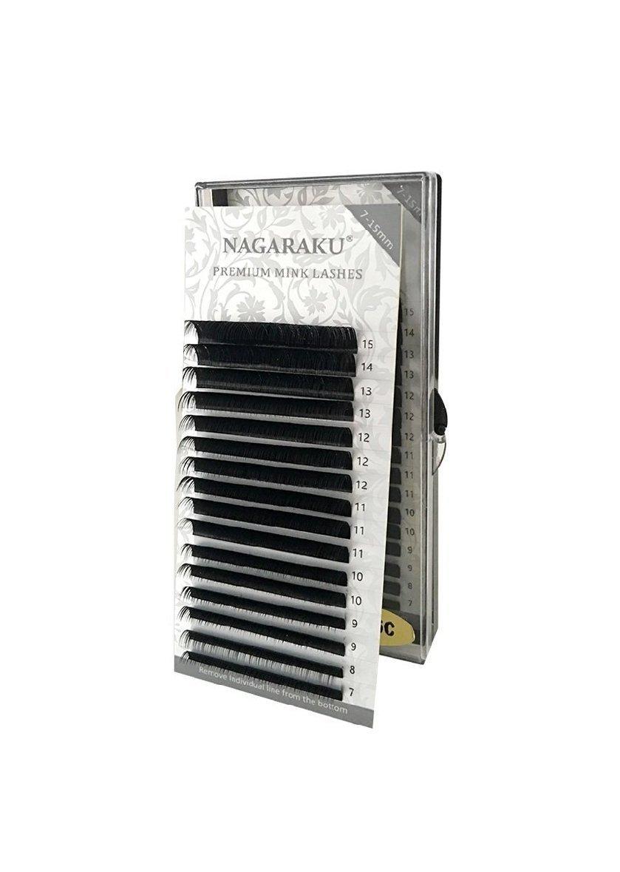 Nagaraku Premium Mink Japanese Eyelash Extensions Mixed Lengths J