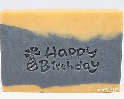 Amazon SoapRepublic Happy Birthday 47x18mm Acrylic Soap Stamp