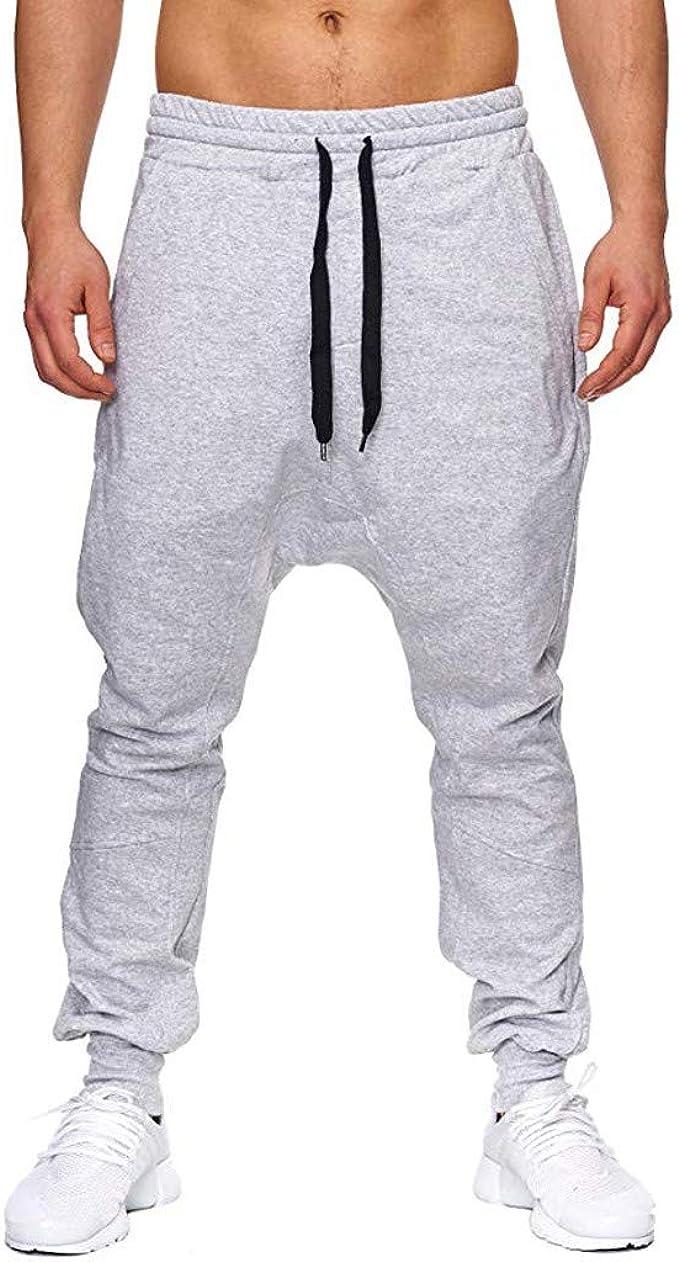 Buyaole Pantalones De Chandal Hombre, Pantalones Deporte ...