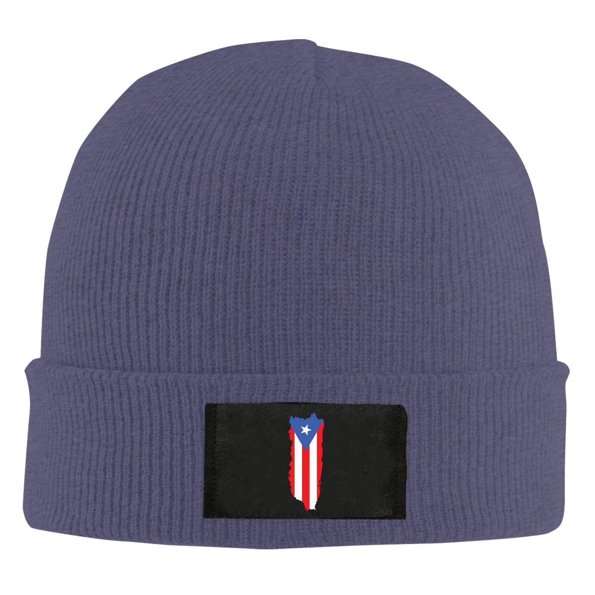 100/% Acrylic Fashion Skiing Cap Mens and Womens Puerto Rico Flag Knitted Cap