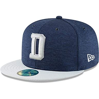 74be34f0d42 Amazon.com  New Era Dallas Cowboys NFL Sideline 18 Home On Field Cap  59fifty Fitted OTC  Clothing