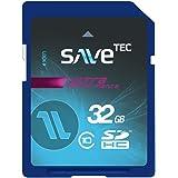 Savetec Speicherkarte 32 GB SDHC UHS-1 Ultra bis zu 70MB/s Class 10 für Smartphone Tablet Notebook PC Chip Hersteller Samsung