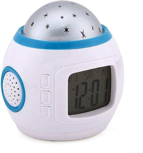 Katomi - Proyector de estrellas con alarma y música para niños ...