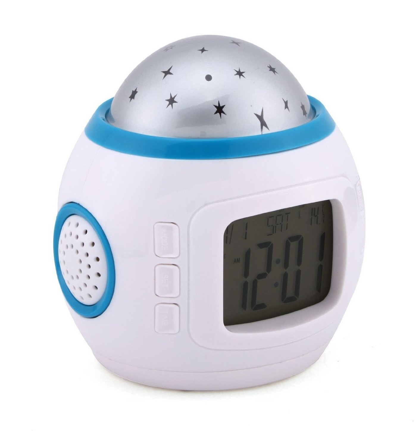Katomi Children Room Sky Star Night Light Projector Lamp Alarm Clock sleeping music ¡­ 1O-M8G6-RPCU
