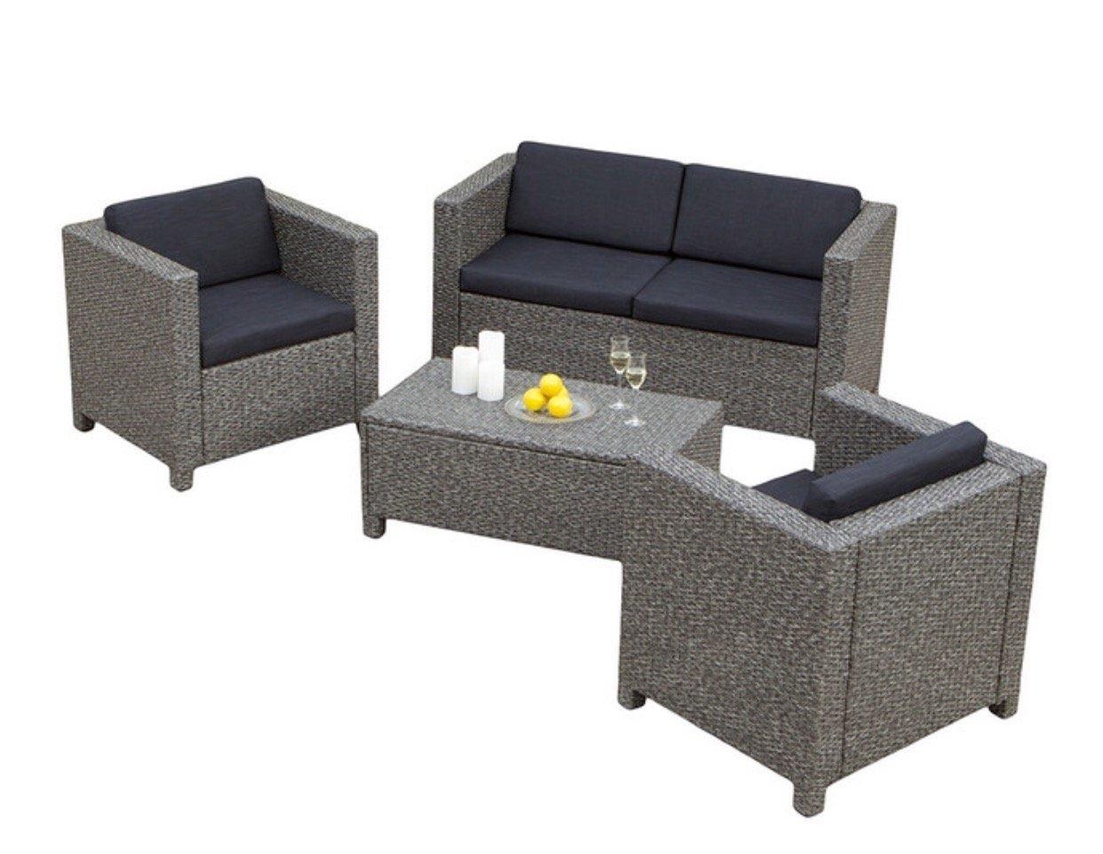 Amazon Com Christopher Knight Home Puerta Grey Outdoor Wicker Sofa