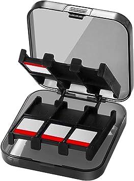 CamKix Funda de juego, compatible con Nintendo Switch - Compatible con hasta 24 juegos de Nintendo Switch - Organizador de tarjeta de juego - Contenedor de viaje - Funda dura con 24 ranuras / insertos: Amazon.es: Videojuegos