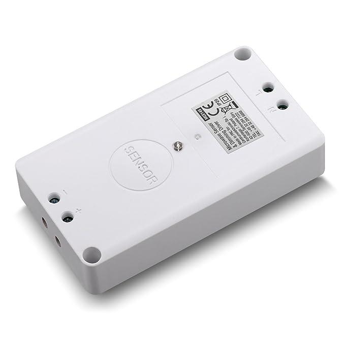 Maclean mce145 Detector de movimiento de microondas Tecnología Radar Sensor de movimiento 360 ° con crepuscular 2 - 8 M: Amazon.es: Bricolaje y herramientas