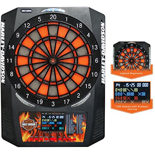 Harley-Davidson Electronic Dartboard With Dart & Extra Tips (2 Sets) by Harley-Davidson