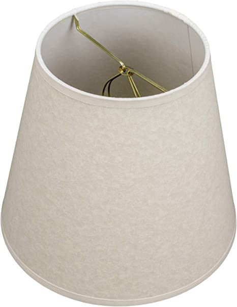 FenchelShades.com Lampshade 5 Top Diameter x 10 Bottom Diameter x 8 Slant Height with Clip-On Attachment for Standard Edison-Style Lightbulb Ivory