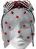 Best Morris Halloween Costumes For Women - Adult Womens Skull Hand Rosette Crown Veil Headb Review