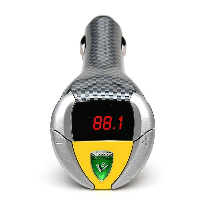 SoundRacer V8 Shelby Cobra - Transmisor FM para toma de mechero de coche: Amazon.es: Coche y moto