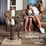 4 Paws Stuff Tall Cat Scratching Post Cat Interactive Toys - Cat Scratch Post Cats Kittens - Plush Sisal Scratch Pole Cat Scratcher - 22 inches (Beige) 13