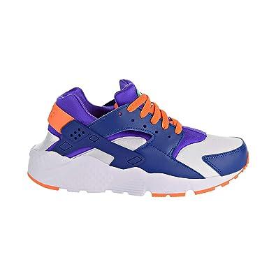 53e57c8bc948e Nike Huarache Run Big Kid s Shoes White Cone Gym Blue 654275-111 (