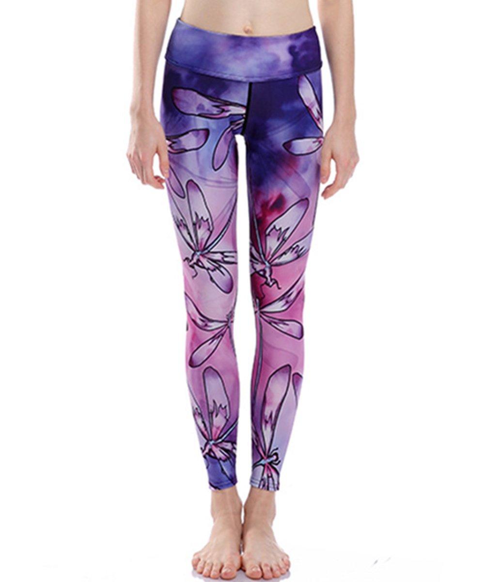 Joyhy Women's 3D Print Ankle Length Yoga Legging Pants JY