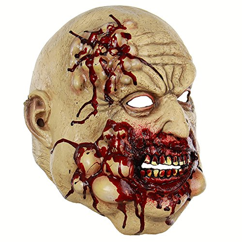 Scary Bloody Chef Latex Horror Old Man Mask Halloween Costume Masquerade Party Props Adults -
